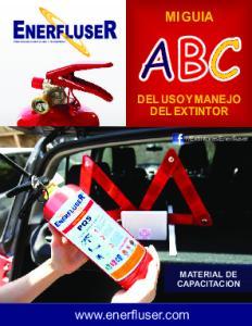 ExtintoresEnerfluser MATERIAL DE CAPACITACION