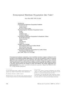 Extracorporeal Membrane Oxygenation: Quo Vadis?