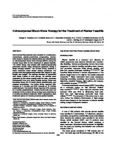 Extracorporeal Shock Wave Therapy for the Treatment of Plantar Fasciitis