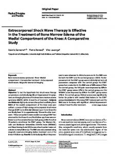Extracorporeal Shock Wave Therapy Is Effective in the Treatment of Bone Marrow Edema of the Medial Compartment of the Knee: A Comparative Study