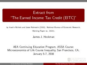 Extract from. The Earned Income Tax Credit