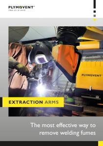 Extraction arms. The most effective way to remove welding fumes