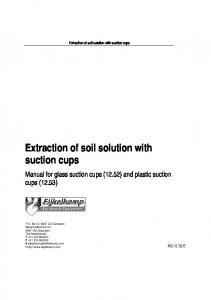 Extraction of soil solution with suction cups