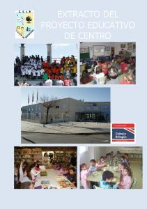 EXTRACTO DEL PROYECTO EDUCATIVO DE CENTRO