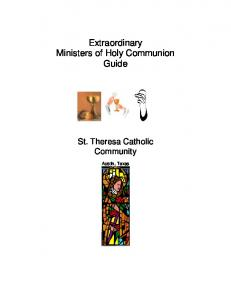 Extraordinary Ministers of Holy Communion Guide