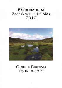 Extremadura 24th April 1st May 2012