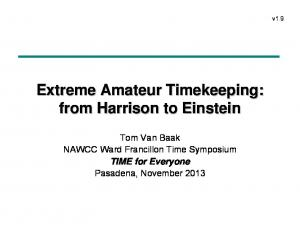 Extreme Amateur Timekeeping: from Harrison to Einstein