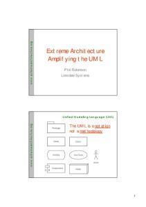 Extreme Architecture Amplifying the UML