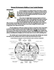 Extreme Environments: Building a Lunar Lander Simulator
