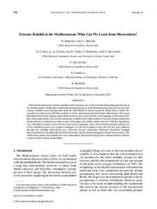 Extreme Rainfall in the Mediterranean: What Can We Learn from Observations?