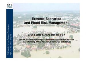 Extreme Scenarios and Flood Risk Management