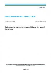Extreme temperature conditions for wind turbines