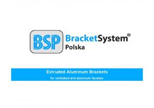 Extruded Aluminum Brackets. for ventilated and aluminum facades