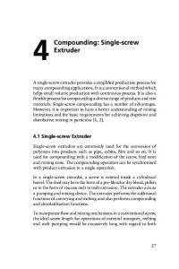 Extruder. 4.1 Single-screw Extruder
