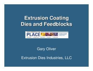 Extrusion Coating Dies and Feedblocks