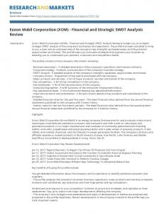 Exxon Mobil Corporation (XOM) - Financial and Strategic SWOT Analysis Review