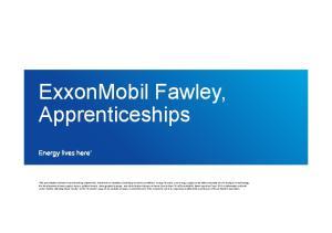 ExxonMobil Fawley, Apprenticeships