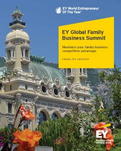EY Global Family Business Summit