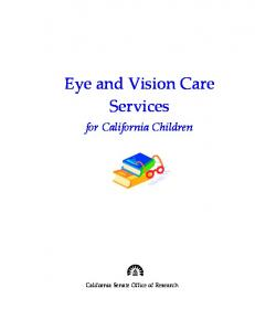 Eye and Vision Care Services
