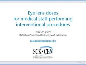 Eye lens doses for medical staff performing interventional procedures