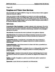 Eyeglass and Vision Care Services