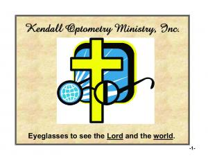 Eyeglasses to see the Lord and the world. -1-