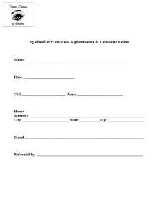 Eyelash Extension Agreement & Consent Form