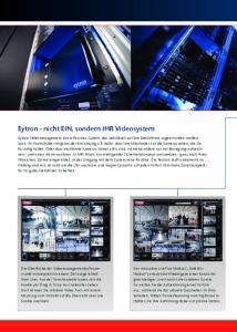 Eytron - nicht EIN, sondern IHR Videosystem