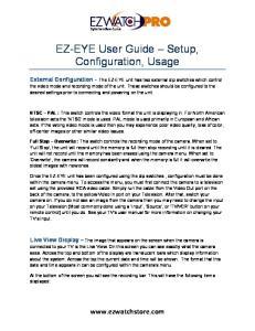EZ-EYE User Guide Setup, Configuration, Usage