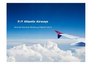 F Atlantic Airways. Annual General Meeting 8 March 2013