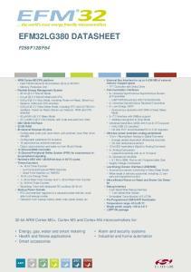 F bit ARM Cortex-M0+, Cortex-M3 and Cortex-M4 microcontrollers for: