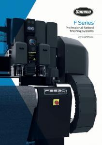 F Series. Professional flatbed finishing systems