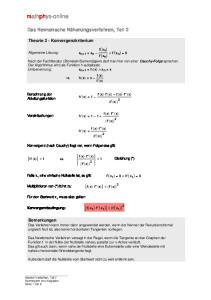f x n ) 2 1 Gleichung (*) f' x 1 f'' x 1
