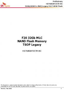 F20 32Gb MLC NAND Flash Memory TSOP Legacy