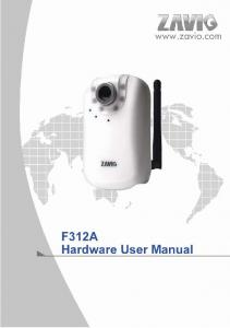 F312A IP Camera. Hardware User Manual