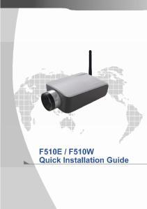 F510W Quick Installation Guide