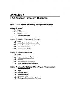 FAA Airspace Protection Guidance