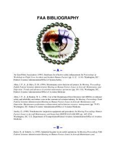 FAA BIBLIOGRAPHY -- A --