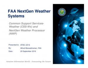 FAA NextGen Weather Systems