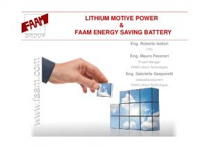 FAAM ENERGY SAVING BATTERY