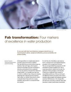 Fab transformation: Four markers of excellence in wafer production