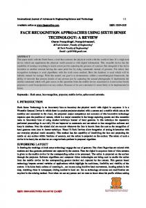 FACE RECOGNITION APPROACHES USING SIXTH SENSE TECHNOLOGY: A REVIEW