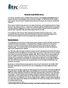 Facebook Social Media Survey