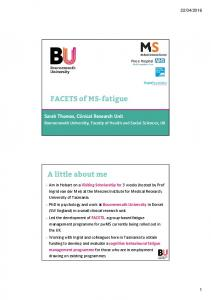FACETS of MS-fatigue