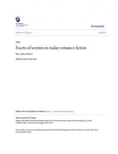 Facets of women in malay romance fiction