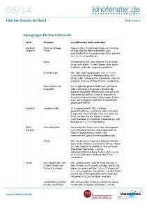 Fach Themen Sozialformen und Methoden