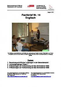 Fachbrief Nr. 14 Englisch