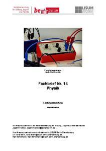 Fachbrief Nr. 14 Physik