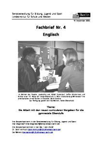 Fachbrief Nr. 4 Englisch