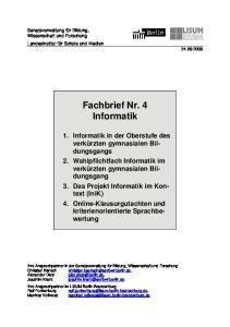 Fachbrief Nr. 4 Informatik